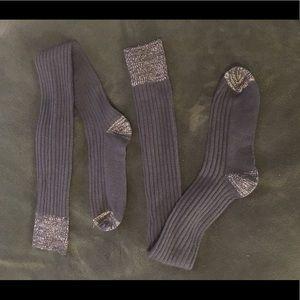 Free People Knee High Socks Black